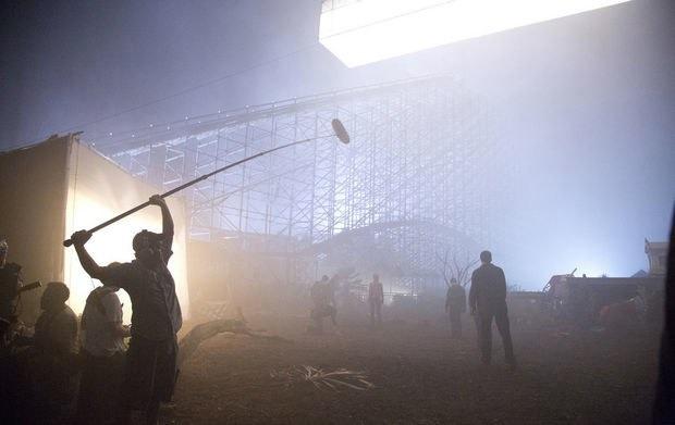 Percy Jackson official fox set photo - Jurassic World Abandoned Theme Park film shoot