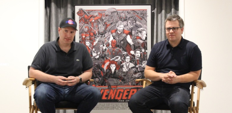 Marvel head Kevin Feige and Avengers producer Jeremy Latchem  - the future of the marvel cinematic universe