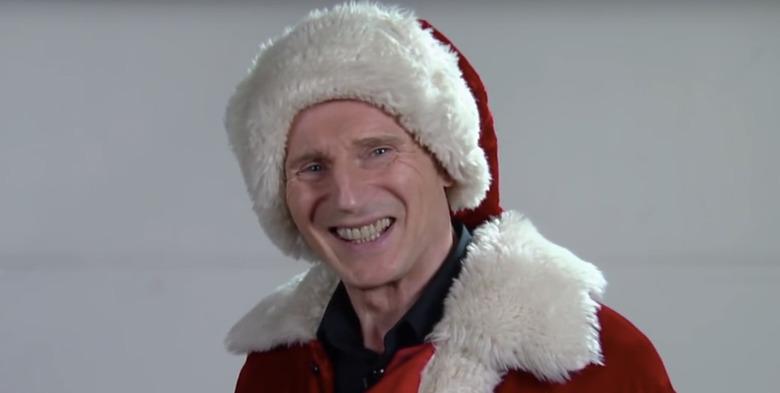 Liam Neeson Santa Claus Audition