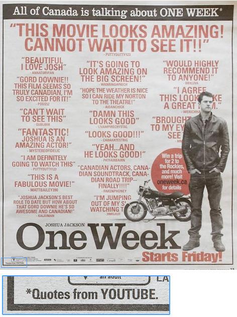 one week youtube ad