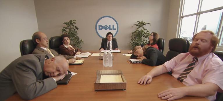 Steve Jobs parody Michael Dell