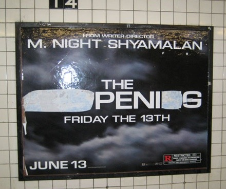 The Happening Subway ad