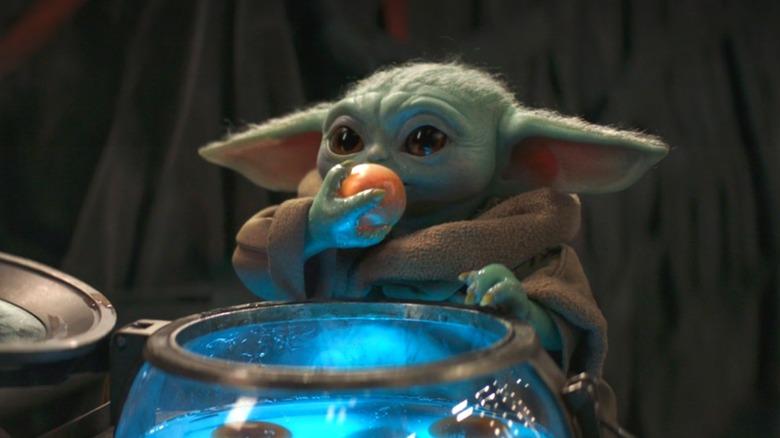 Baby Yoda Eating Eggs