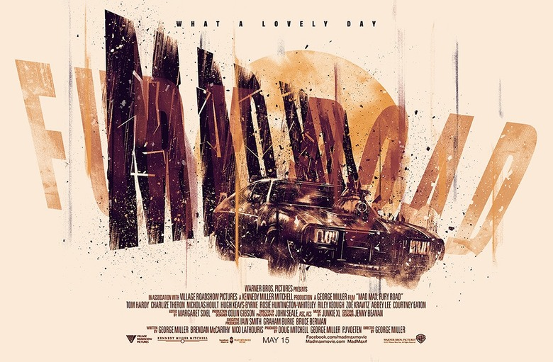 Mad Max Fury Road poster by LUKE BUTLAND