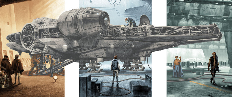 Star Wars - Mark Englert Millennium Falcon Print