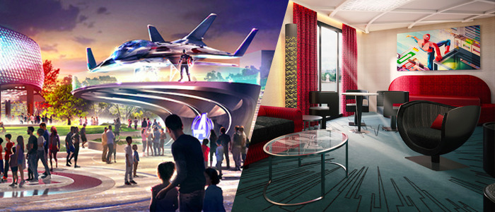 Marvel hotel and theme park concept art