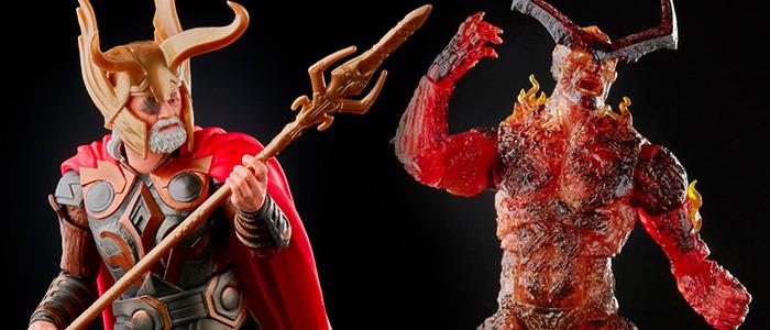Marvel Legends Thor Action Figures - Odin and Surtur