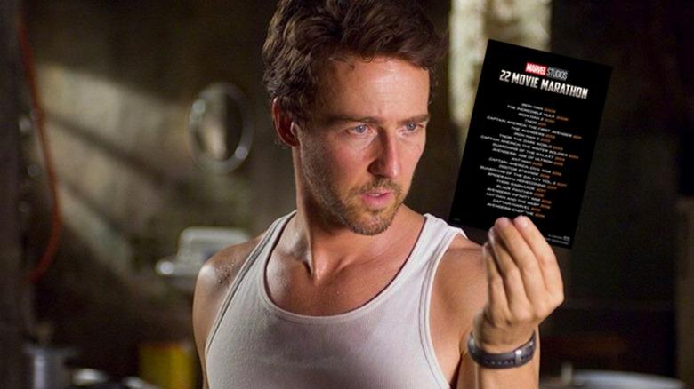 Bruce Banner considering a movie marathon