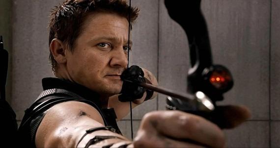 Jeremy Renner as Hawkeye in The Avengers