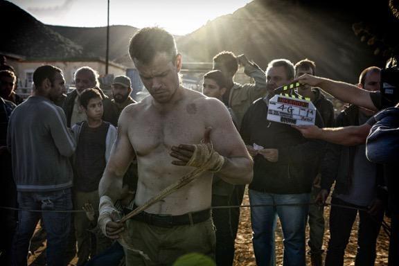 Matt Damon in Bourne 5 set photo