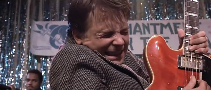 Michael J Fox and Coldplay Back to the Future