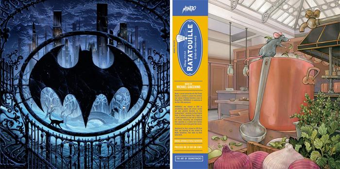Ratatouille and Batman Returns Vinyl Soundtrack