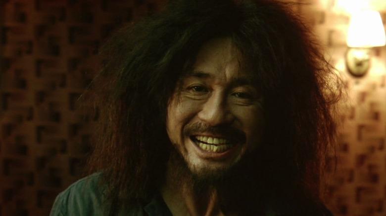 Oh Dae-su smiling
