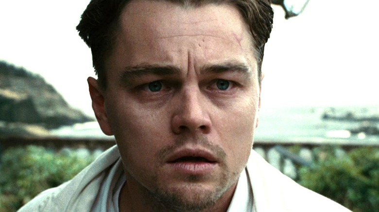 Leonardo DiCaprio worried by the beach
