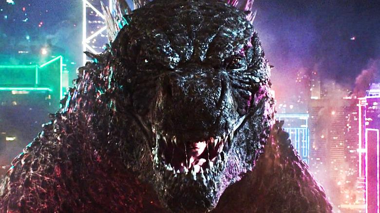 Godzilla growls at camera