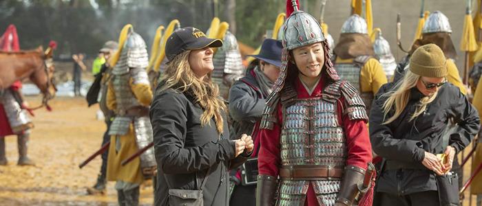 Mulan director on set