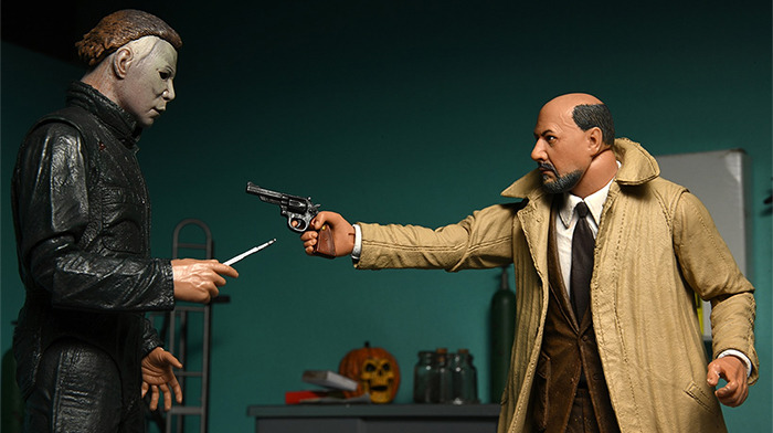 NECA Halloween II Action Figures - Michael Myers and Dr. Loomis