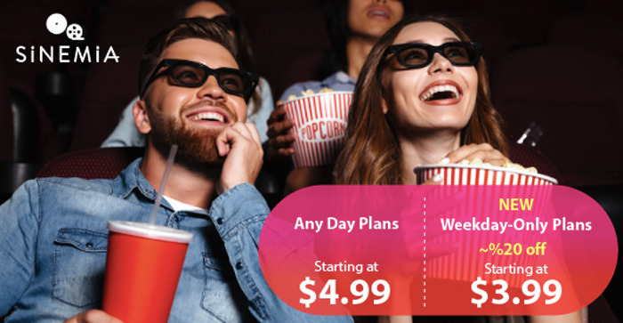 New Sinemia Weekday Subscriptions
