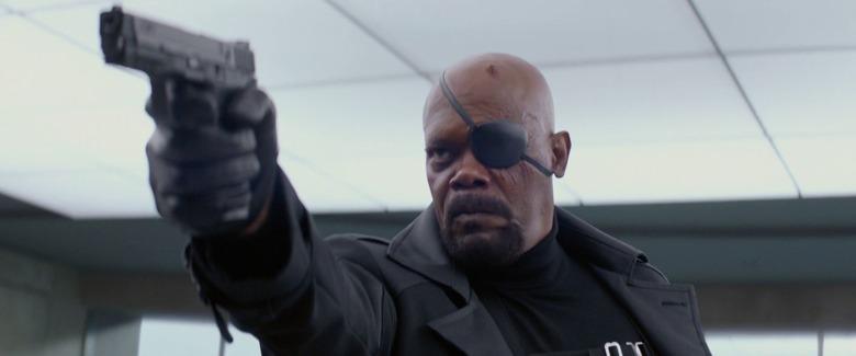 Nick Fury in Avengers Infinity War