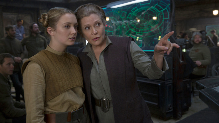 Carrie Fisher in Star Wars Episode 9