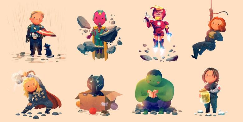 Olly Moss Avengers Prints