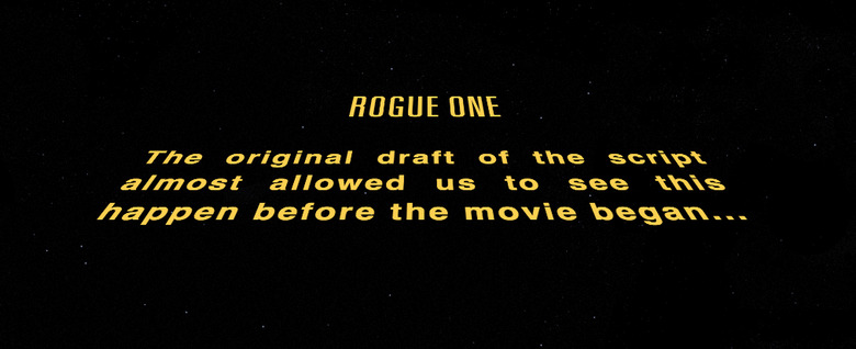 Rogue One Opening Crawl