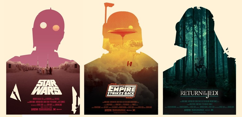Edward Stone's photographic rendering of Olly Moss' Star Wars posters