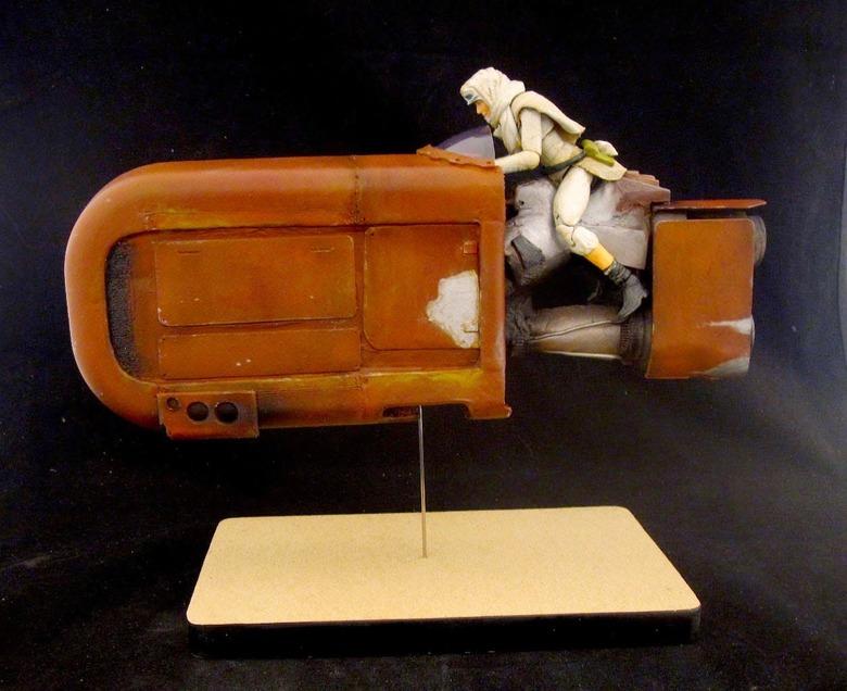 Daisy Ridley custom action figure and jetbike