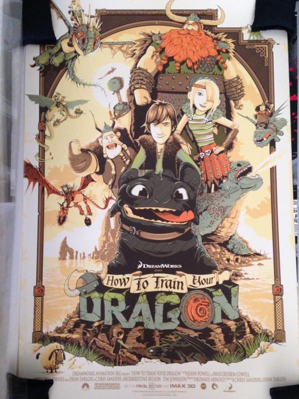 How to Train Your Dragon print from Hero Complex Gallery