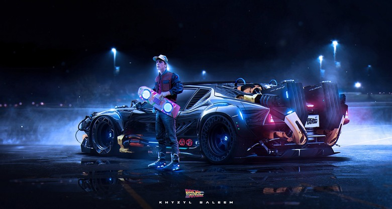 Updated Back to the Future time machinelook like by Khyzyl Saleem.