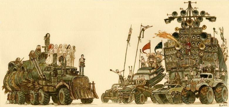 Scott C's amazing Great Showdown tribute to Mad Max: Fury Road