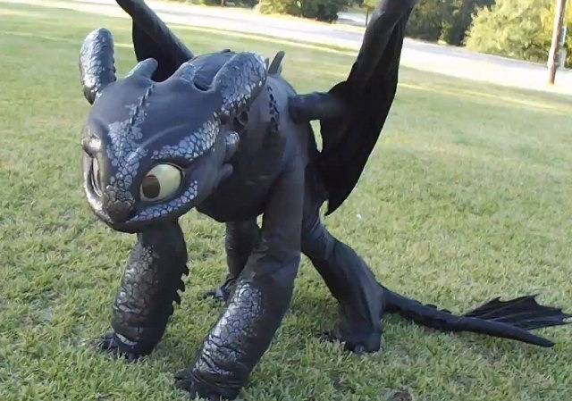 'How To Train Your Dragon' Toothless Dragon Cosplay