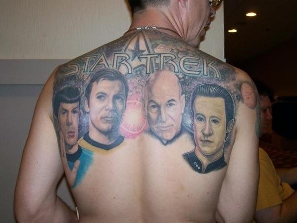 Giant Star Trek Back Tattoo
