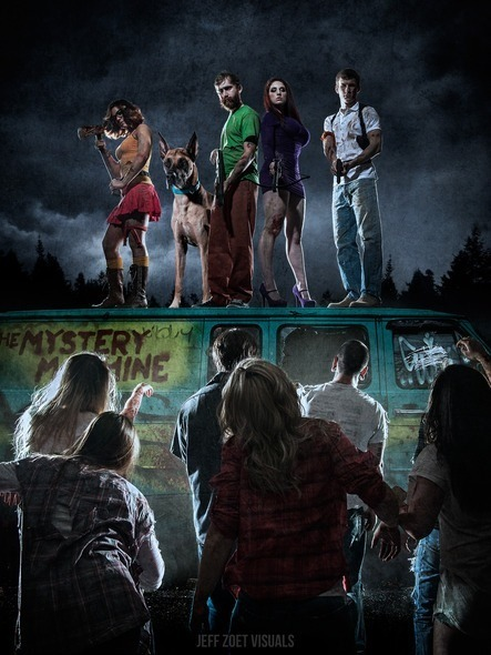 Scooby-Doo Gang Battles Zombies in Spooky Photo Series