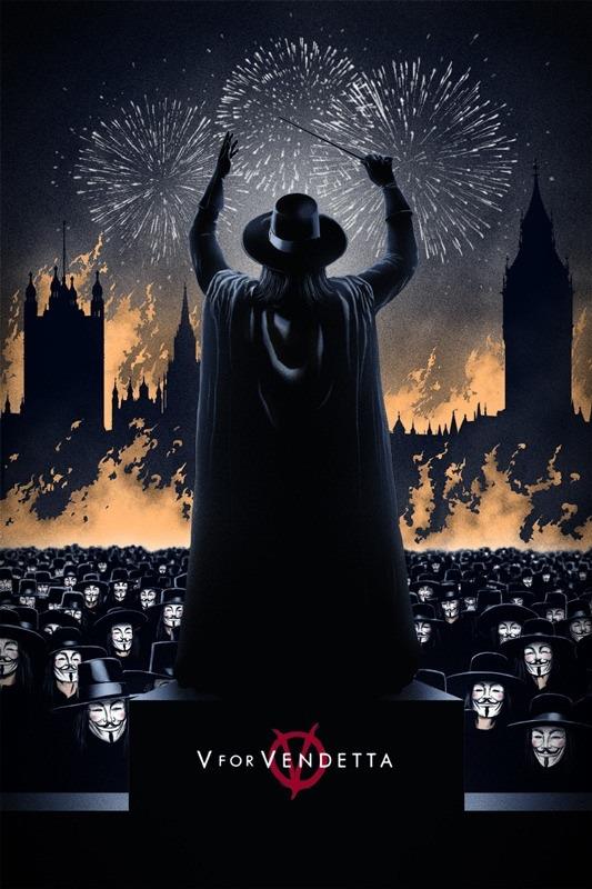 """Marko Manev's Stunning """"V For Vendetta"""" Print"""