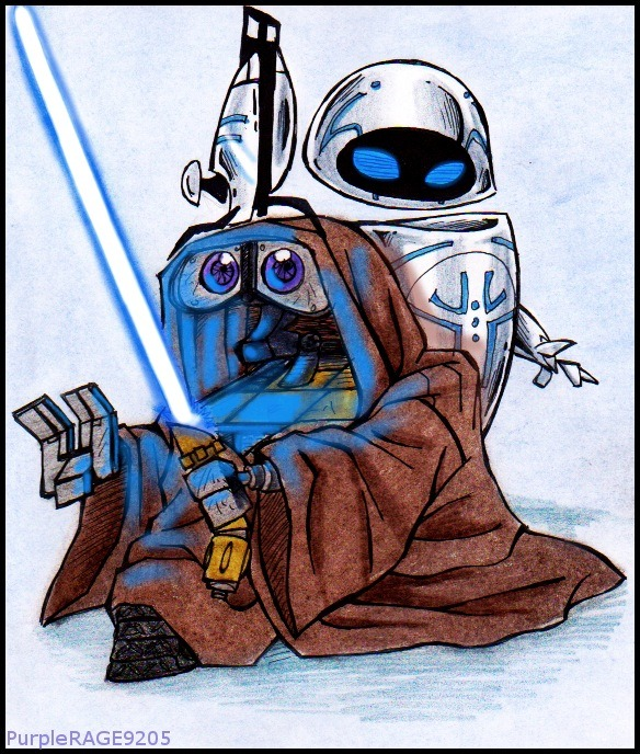 WALL-E and EVE star wars mash-up