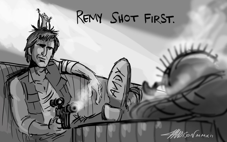 """""""Remy shot first"""" by Austin Madison."""