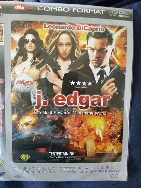 Pirated J. Edgar DVD cover