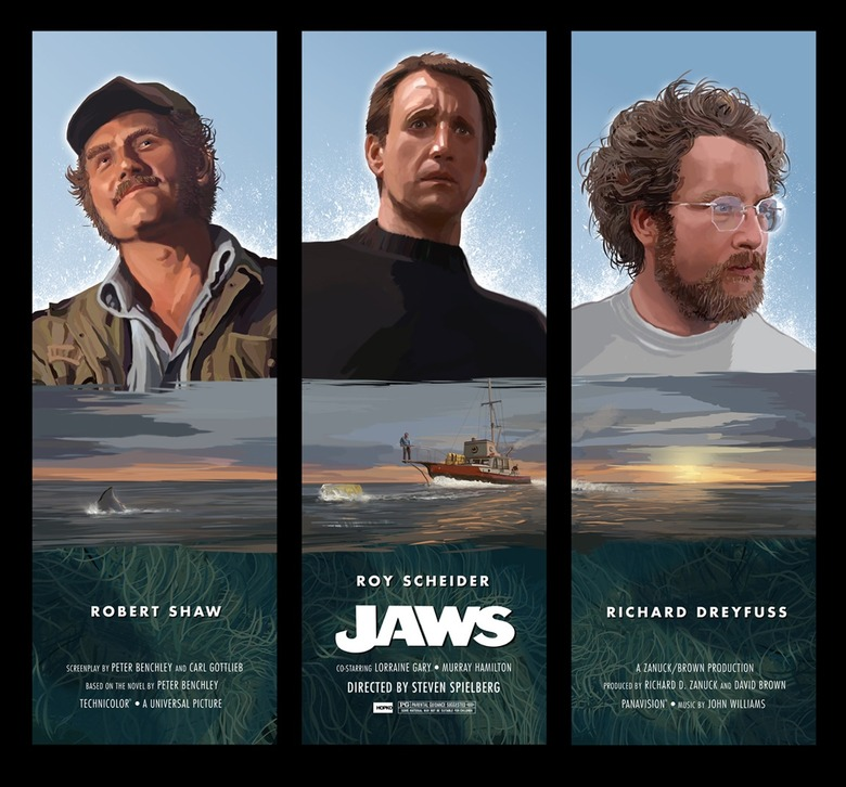 Jaws poster by Hopko Designs