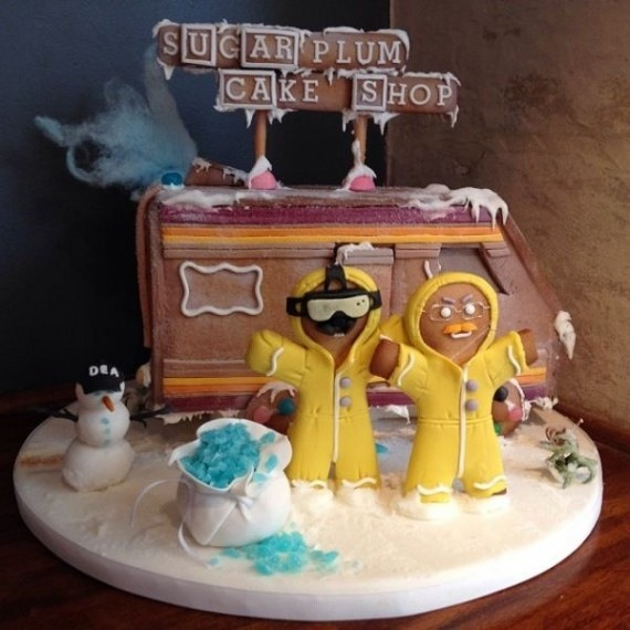 Walt and Jesse gingerbread house by Sugar Plum Cake Shop
