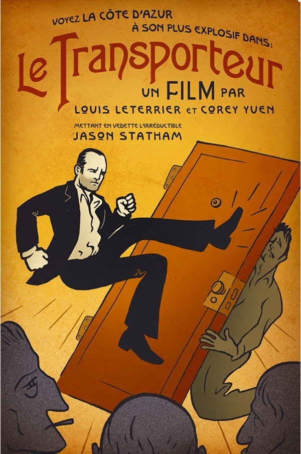 Awesome TRANSPORTER Poster In The Old French Style