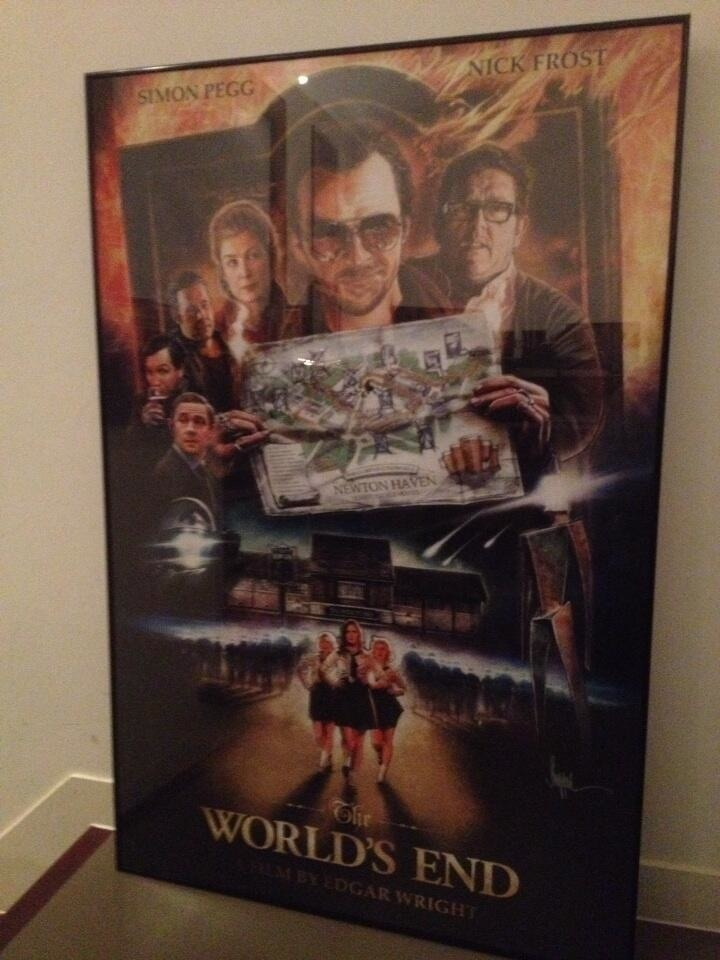 Paul Shipper created this World's End poster for Simon Pegg, who gifted it to Edgar Wright