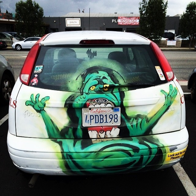 Ghostbusters Slimer car