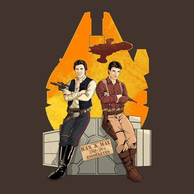 Firefly/Star Wars Partners in crime tshirt