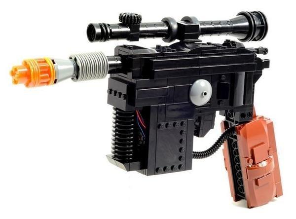 Full-Size Han Solo Blaster In LEGO