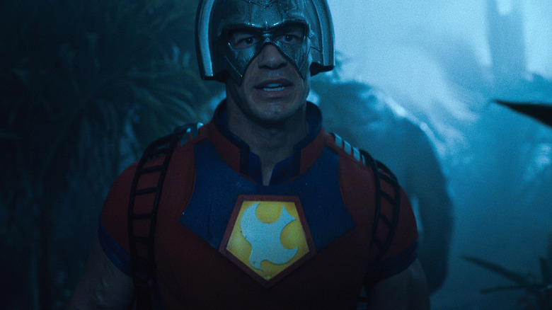 """JOHN CENA as Peacemaker and KING SHARK in Warner Bros. Pictures' superhero action adventure """"THE SUICIDE SQUAD,"""" a Warner Bros. Pictures release."""