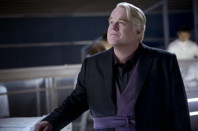Philip Seymour Hoffman as Plutarch Heavensbee in The Hunger Games Catching Fire