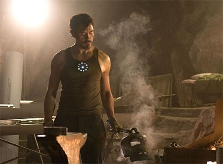 Robert Downey Jr. forges Iron Man Armor