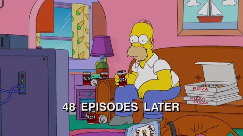 Homer Simpson Watching TV