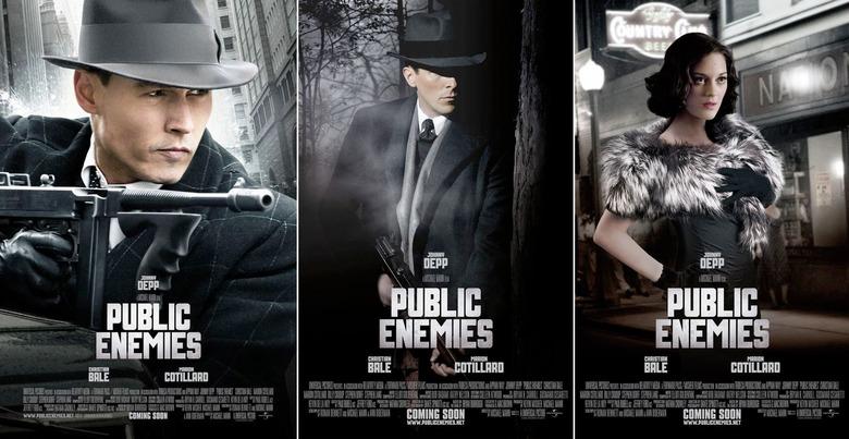 Public Enemies Character posters